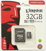 Kingston 32GB Class 10 microSDHC Speicher Karte mit SD-Adapter