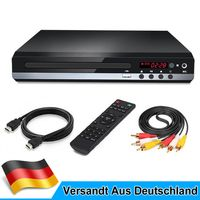 4K UHD VCD CD DVD-Spieler mit Fernbedienung USB HDMI AV für TV Player 223x193mm ,Farbe: Schwarz