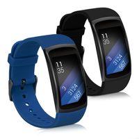 2x Armband kompatibel mit Samsung Gear Fit2 / Gear Fit 2 Pro