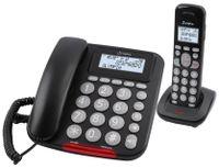 Olympia Senioren Großtasten Festnetztelefon mit DECT Mobilteil Extragroße Wahltasten