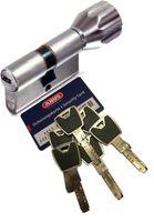 ABUS XP20S KXP20S Knaufzylinder Länge Z30/K30mm K=Knaufseite, mit Sicherungskarte und 6 Schlüssel mit Design-Clip, mit SKG** Bohrschutz