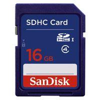 Sandisk SDHC, 16GB, 16 GB, Secure Digital High-Capacity (SDHC), Blau, -25 - 85 °C, -40 - 85 °C, 2,4 cm