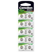 Camelion Knopfzelle LR66 / AG4 / G4 / LR626 / 177 / SR626W / GP77A / 377 10er Blister, 1,5V, Alkaline