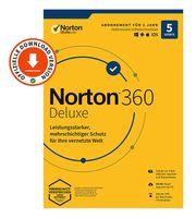 Norton 360 Deluxe | 5-Geräte | 1 Jahr | PC/Mac/iOS/Android | Download-Version