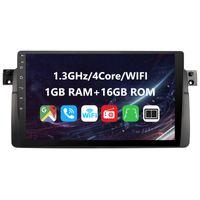 Eunavi 1 Din Android 10 Autoradio für BMW E46 M3 318i 320i 325i Multimedia-Player Radio Stereo GPS Navigation Touchscreen keine DVD 9 Zoll