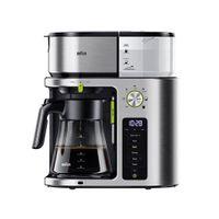 Braun KF9170SI Filterkaffeemaschine, Edelstahlgehäuse, Touchscreen, Glaskanne, 10 Tassen, Zeitschaltuhr, Wasserfilter