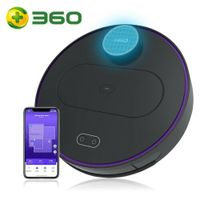 360 S6 Smart Saugroboter Staubsauger Automatisch APP 3200mAh Roboterstaubsauger Vacuum Reinigung  Schwarz