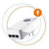 devolo Magic 2 LAN triple: Ergänzungsadapter für stabiles Heimnetzwerk via Stromleitung durch Wände und Decken, G.hn-Technologie, 3 Gigabit-LAN-Anschlüsse, Farbe:Weiß