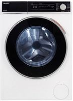 Sharp ES-NFH014CWC-DE Waschmaschine Frontlader/C / 10 kg / 1400 U/min/Advanced Inverter Motor/Dampf-Funktion / 15 Programme inkl. 15 min Kurzprogramm/AquaStop/Weiß