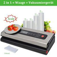 5 in 1 Vakuumiergerät Automatisch Vakuumierer für trockene feuchte Lebensmittel
