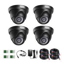 ZOSI 4X Full HD 1080p Dome Video Überwachungskamera Set mit Kabel und Netzteil für CCTV 1080P TVI DVR System