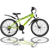 24 Zoll Fahrrad MTB mit Beleuchtung und 21-Gang FSTR Grün
