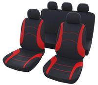 Sitzbezug-Set 'Multi' in schwarz-rot
