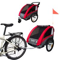 Veelar Sports 2 in 1 Kinderanhänger Fahrradanhänger Anhänger mit Buggy Set + Federung