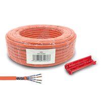 ARLI Cat7 Verlegekabel 25m Netzwerkkabel + Universal Abisoliermesser