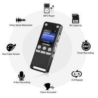 "Digital Aufnahmegerät Diktiergerät Audio Voice Recorder Sprachaufnahme 1,5"" LCD"