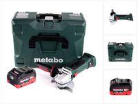 Metabo W 18 LTX 125 Quick Akku Winkelschleifer 18 V 125 mm + 1x Akku 8,0 Ah + MetaLoc - ohne Ladegerät
