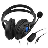 3,5 mm Wired Gaming Kopfhörer über Ohr Spiel Headset Stereo Bass Kopfhörer mit Mikrofon Lautstärkeregler für PC Laptop PS4 Smartphone