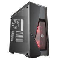 Cooler Master MasterBox K500L - Midi-Tower - PC - Kunststoff - Stahl - Schwarz - ATX,Micro ATX,Mini-ITX - Rot