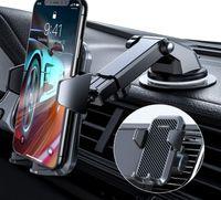 Handyhalterung Auto Handyhalter fürs Auto 3 in 1 Kfz Handyhalterung Lüftung & Saugnapf Halter 100% S