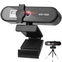 Autofokus Webcam Webkamera PC ,Maximale Auflösung: 3840x2160, USB-Kamera Webkamera Webcam Full Hd( mit Eingebautes Mikrophon)