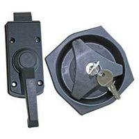 Türschloss komplett inkl 2 Schlüssel Schwarz für Wohnwagen und Wohnmobil Caravan Türschloss Innen/Außen komplett für linke Seite MD522 (Einheitsgröße) (Schwarz)