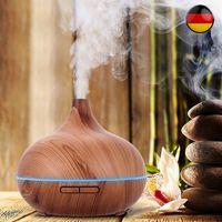 Aroma Diffuser Elektrisch 7 Farben LED Ultraschall Luftbefeuchter 500ml Aroma Diffuser Aromatherapie Duftlampe Öle Diffusor