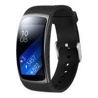 Samsung Gear Fit2 Armband Silikon - schwarz