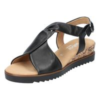 GABOR Comfort Damen Keil-Sandalen Schwarz, Schuhgröße:EUR 39