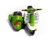 VESPA mit Beiwagen Motorroller Scooter Rückzugmotor Spielzeug Modell 03 (Grün)