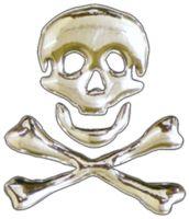 3D-Chrome-Sticker Skull 45 x 40 mm