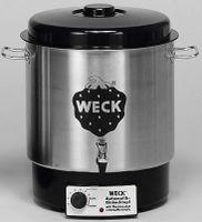 Weck Einkochautomat 1800 W + Hahn ohne Uhr, Edelstahl, 230 W
