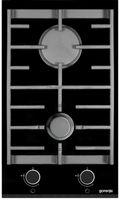Gorenje GC341UC, Schwarz, Chrom, Built-in (placement), Gaskochfeld, Keramik, 2 Zone(n), 2 Zone(n)