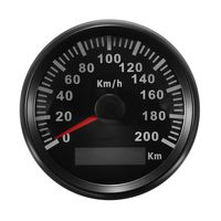 Digital GPS Tacho Auto Boot Tachometer 85mm Motorrad Kilometerzähler Wasserdciht