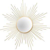 Metallspiegel Sun Goldfarben- 60cm