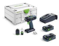 Festool Akku Bohrschrauber T 18+3 HPC 4,0 I-Plus im Systainer SYS3 M 187 576446