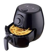 Deski Heißluft Fritteuse 3,5 Liter 1400 W schwarz glänzend Kontrolllampe