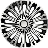 4 STK 15 Zoll Volante schwarz PETEX Radkappen Radzierblenden Satz PKW Auto