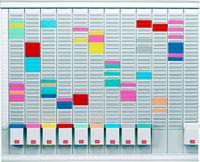 Nobo T-Karten-Planung - 12-Monats-Planer, 80 x 66 cm (B x H)