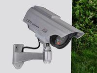 Kamera-Attrappe Solar mit LED, Wandbefestigung, Einbruchschutz 2er Set