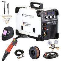 STAHLWERK MIG 175 ST IGBT Vollausstattung MIG MAG Schutzgas Schweißgerät 175 A Fülldraht geeignet