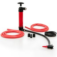 Siphonpumpe inkl. Schläuchen & Zubehör - Multifunktional Absaugpumpe Saugpumpe Umfüllpumpe Handpumpe Pumpe für Benzin Diesel Öl Wasser