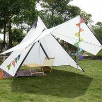 SALE Campingzelt 4-Personen Wasserdichtes Zweischicht-Familienzelt Indian Style