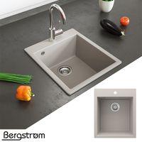 Bergström Granit Spüle Küchenspüle Einbauspüle Spülbecken 425x500mm Beige
