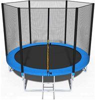 Trampolin, Ø244 cm Gartentrampolin Jumper, & GS , inklusive Sicherheitsnetz, Sprungmatte, Leiter und Randabdeckung  Belastbarkeit 150 kg