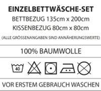 CTI Miraculous Ladybug Wende Bettwäsche Set 135x200cm 80x80cm 100/% Baumwolle 2 Motive