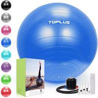 TOPLUS Gymnastikball Sitzball Extra dicker Sportball Yogaball (Büro & Hause & Fitnessstudio),65cm,Blau