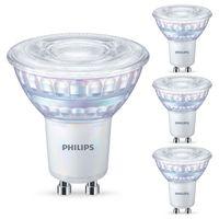 Philips LED WarmGlow Lampe ersetzt 35W, GU10 Reflektor PAR16, warmweiß, 230 Lumen, dimmbar, 4er Pack [Energieklasse A++]