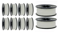 10x I-Filament  je 1kg Spule PLA in der Farbe weiss weiß 1,75 mm Durchmesser (10kg)