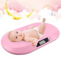 digital  Babywaage Tierwaage Kinderwaage bis 20kg Stillwaage Säuglingswaage   für Kinder und Neugeborene mit Lineal + Handtuch  (pink)